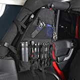 u-Box 2 x Roll Bar Storage Bag for 07-17 Jeep JK Wrangler Unlimited 4-Door with Multi-Pockets & Organizers & Cargo Bag Saddlebag Tool Kits
