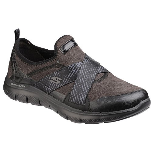 Skechers Flex Appeal 2.0-Bright Eyed, Entrenadores Para Mujer Negro