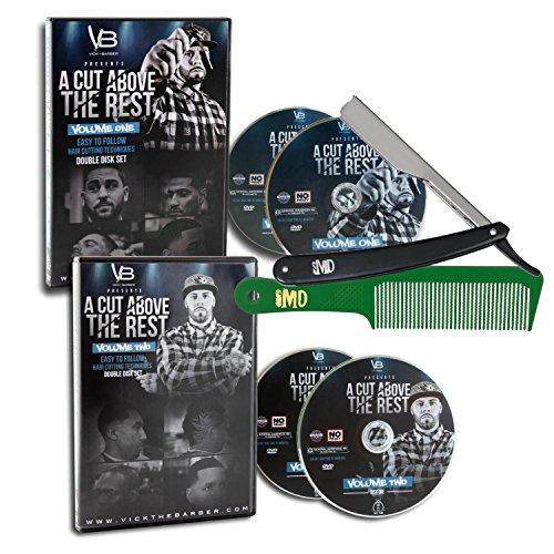 Price comparison product image A Cut Above the Rest Vol. 1 & 2 ~4-Disc DVD Set~ w/ Free Classic Razor & Flat Top Comb