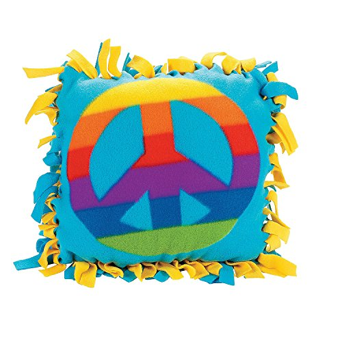 Fleece Peace Sign Tied Pillow Craft Kit - Crafts for Kids & Novelty Crafts by 5Star-TD ()
