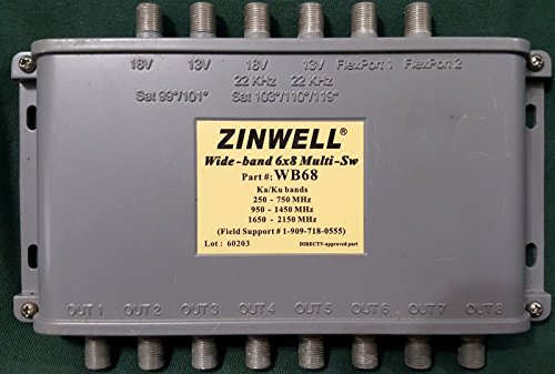 generic wb68 zinwell 6x8 multiswitch designed for directv mpeg-4  compression hd
