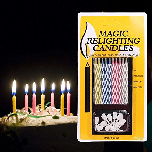Premsons Magic Relighting Birthday Candles Amazonin Toys Games