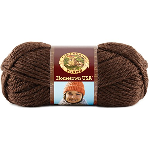 Lion Brand Yarn 135 125L Hometown Usa Yarn  Billings Chocolate