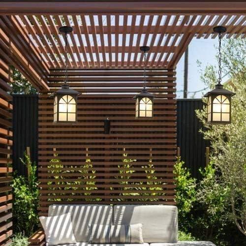 Araña de luces Iluminación para el hogar, elegante Chino jardín del patio villa techo interior Lámpara Lámpara creativa europea pabellón al aire libre terraza balcón porche exterior lámpara a prueba d: Amazon.es: