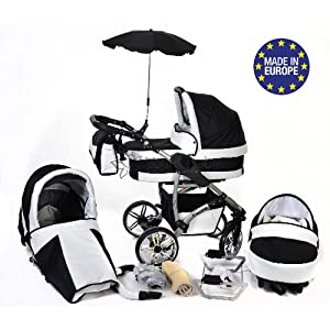 Twing, 3-in-1 Travel System with Baby Pram, Car Seat, Pushchair & Accessories (3in1 Travel System -Baby tub, Sport seat…