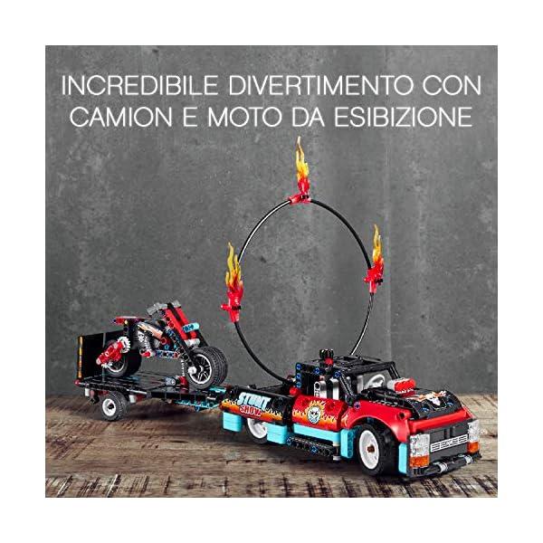 """LEGO Technic Truck e Moto dello Stunt Show, con Azione """"pull-Back"""", con 2 Modelli da Costruire ed Infinite Possibilità di Gioco, per Ragazzi +8 Anni, Appassionati e Collezionisti, 42106 2 spesavip"""
