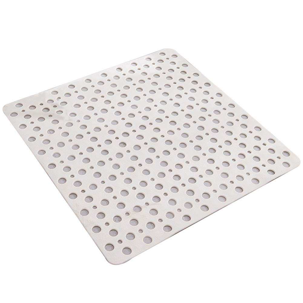 GYYARSX Bathroom Mat Bath Rugs Non Slip Massage Skin Friendly PVC, 3 Colors, 2 Sizes (Color : White, Size : 53X53CM)