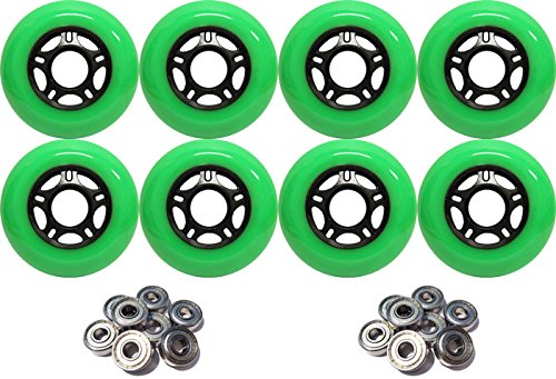 Which are the best inline skate wheels 76mm with bearings available in 2019?