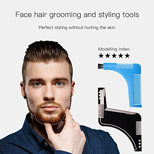 beard style tool shaping comb ulg template shaper edging beards facial hair trimmer for jaw line. Black Bedroom Furniture Sets. Home Design Ideas
