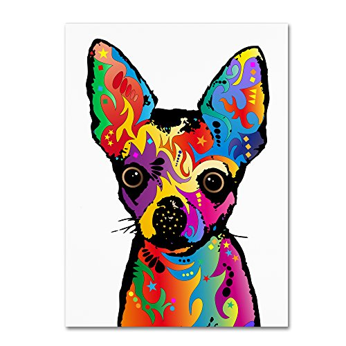 Chihuahua Dog White by Michael Tompsett, 35×47-Inch Canvas Wall Art