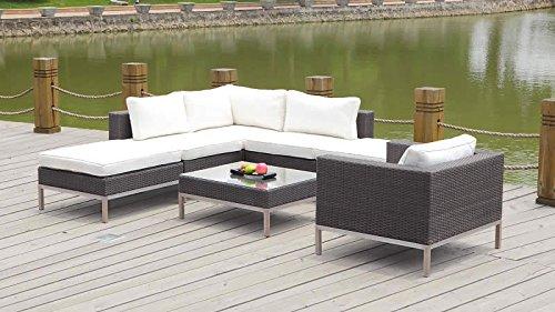 polyrattan lounge big dijon wei g nstig kaufen. Black Bedroom Furniture Sets. Home Design Ideas
