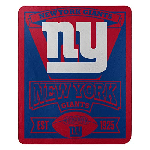 The Northwest Company 1NFL/03102/0081/AMZ NFL New York Giants Marque Printed Fleece Throw, 50' x 60', New York Giants, 50 x 60