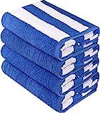Utopia Towels Cabana Stripe Beach Towels Bulk (30 x 60 Inches) - Large Pool Towels