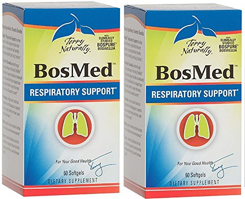 Europharma/Terry Naturally -BosMed Respiratory Support |60 Softgels, 2 Pack For Sale
