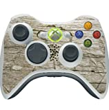Flower Carved out of Wooden Background Xbox 360 Wireless Controller Vinyl Decal Sticker Skin by Moonlight Printing
