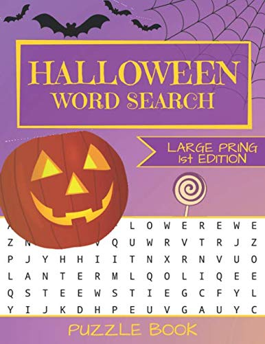 Halloween Ideen 2019 (Halloween Word Search Puzzle Book: Large Print - 80 Halloween Puzzles (Edition/Volume)