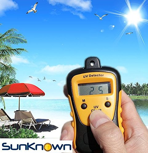 (Sunlight Meter for Measuring Harmful Ultraviolet Light Radiations - Portable UV Intensity Meter & UV Sun Light Strength Tester - Digital UV Index Sensor & Handheld UV Detector - by SunKnown)