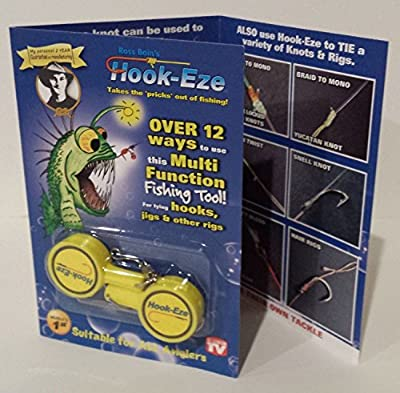 1 HOOK-EZE Twin Pack - CHOOSE YOUR COLOR - Fishing Safety Tying Device + Line cutter and more! by Hook-Eze Pty Ltd