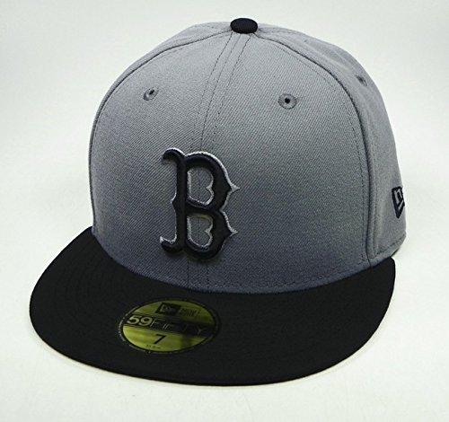 MLB Boston Red Sox MLB Basic Stm/Gry 59Fifty, STORM GRAY/BLACK, 7 3/8 Boston Red Sox 59fifty Hats