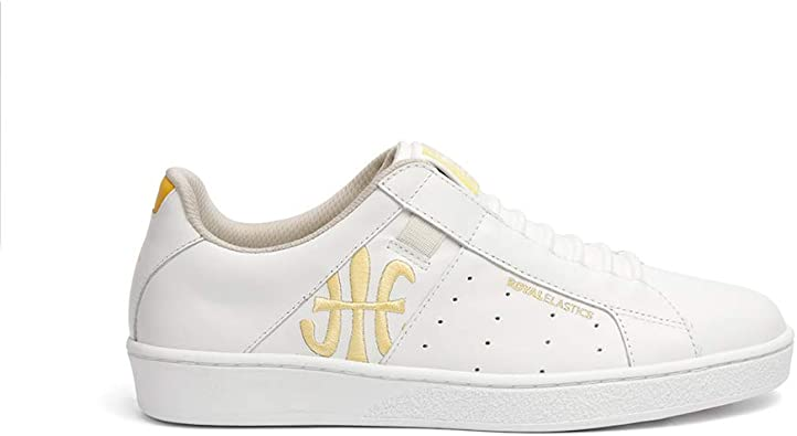 Sneakers White Yellow