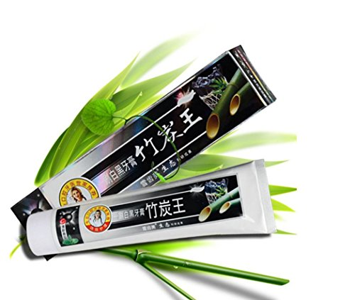 Kuulee 100% Natural Active Whitening Charcoal Toothpaste Black Bamboo Charcoal Toothpaste Oral Hygiene Teeth Care 160g