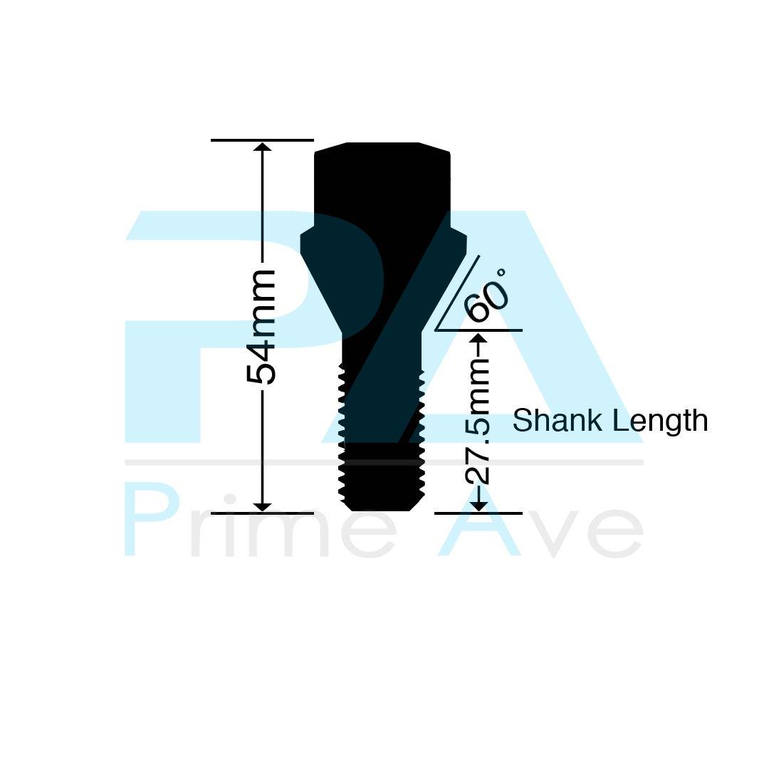 20 PA 40mm Shank Cone Seat Wheel Lug Bolts In Chrome ~ Thread Size 12X1.5 17mm Hex