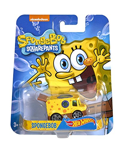 HOT WHEELS SPONGEBOB SQUAREPANTS YELLOW CAR NICKELODEAN