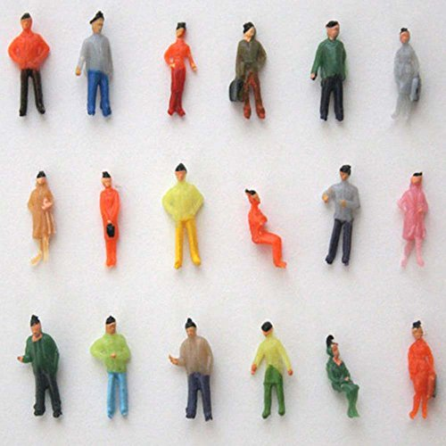 Miniature 1:75 Scale OO Gauge Hand Painted Layout Model Train People Figure ZevenMart DIY Dollhouse Accessories