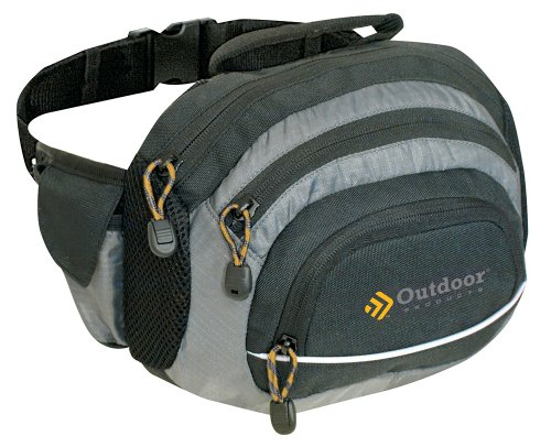 Outdoor Products Trailhead Waist Pack, Black/Grey, Outdoor Stuffs