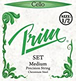 Prim Cello Strings - Set, 1/2, Chromesteel/Steel, Medium, Ball
