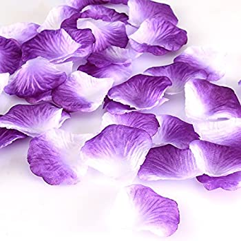 Amazon worldoor pack of 600pc mixed color rose petals purple hcstar 1200pcs silk rose petals mixed color artificial flower wedding party vase home decor bridal petals mightylinksfo