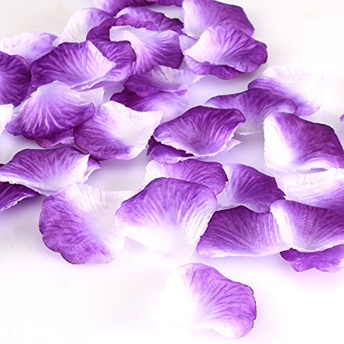 HCSTAR 1200pcs Silk Rose Petals Mixed Color Artificial Flower Wedding Party Vase Home Decor Bridal Petals Rose Favors