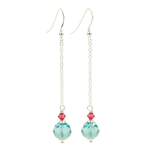 27397f0fa Image Unavailable. Image not available for. Color: Swarovski Crystal  Earrings .925 Sterling Silver ...