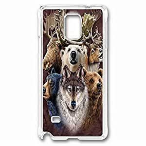 iCustomonline Northern Wildlife Protective Back PC Crystal Clear Case for Samsung Galaxy Note 4
