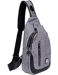 Buganda Sling Bag Chest Shoulder Backpack Men Women Crossbady Bags for Travel Outdoors