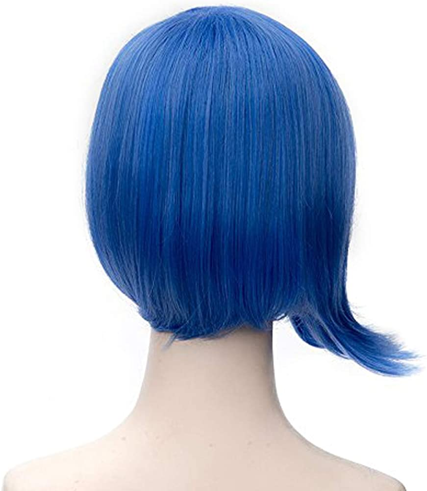 free wig cap 2015 new movie Inside Out Disgust Sadness Joy short cosplay wig