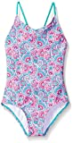 Kanu Surf Girls' Toddler Daisy Beach Sport 1-Piece Swimsuit, Sundance Pink Paisley, 2T