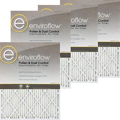 Enviroflow 20X22X1A (실제 사이즈) 꽃가루와 먼지 조절 (4 팩) / Enviroflow 20X22X1A (실제 사이즈) 꽃가루와 먼지 조절 (4 팩)