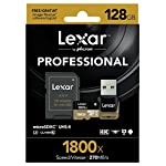 Lexar professional 1800x 64gb microsdxc uhs-ii card (lsdmi64gcbna1800a) 7 high-speed performance—leverages uhs-ii technology (u3) for a read transfer speed up to 270mb/s (1800x) premium memory solution for sports camcorders, tablets, and smartphones designed for high-speed capture of high-quality images and extended lengths of 1080p full-hd, 3d, and 4k video