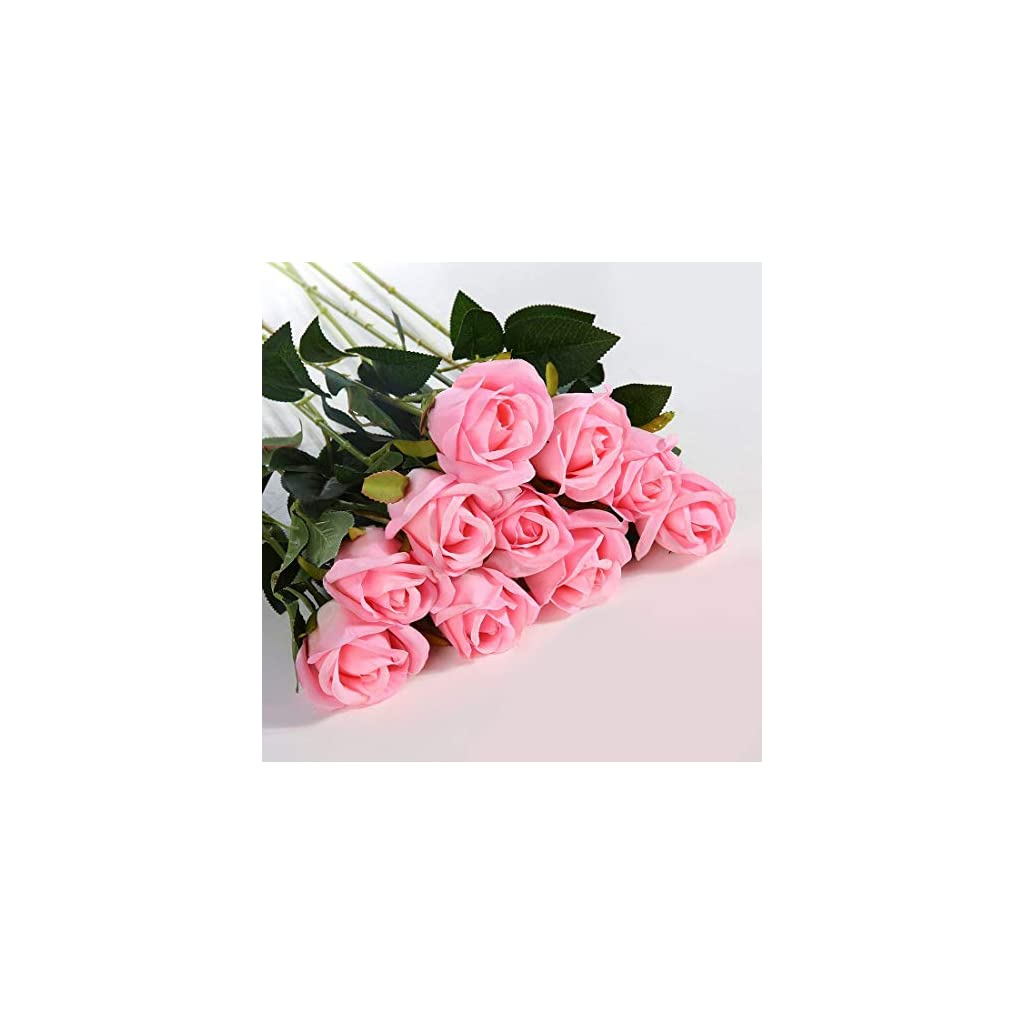 Artificial-Flowers-Silk-Roses-Real-Touch-Bridal-Wedding-Bouquet-for-Home-Garden-Party-Floral-Decor-10-Pcs