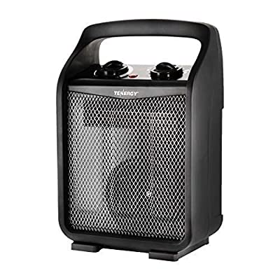 Tenergy 1500W/750W Portable Space Heaters with Adjustable Thermostat, Recirculation Air Electric Fan Heater with Auto Shut Off Switch, Advanced Tip-over & Overheat Protection