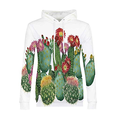 ALUONI Cactus Decor Durable Hoodies,Saguaro Barrel Hedge Hog,for Outdoor (Barrel Cactus Is What A)