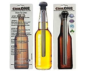 Cool One Single Beer Cooler - Unique Gift For Dad! Put the Unique Chiller In Your Bottles and Drink Through Your Beverage Cold and Fresh