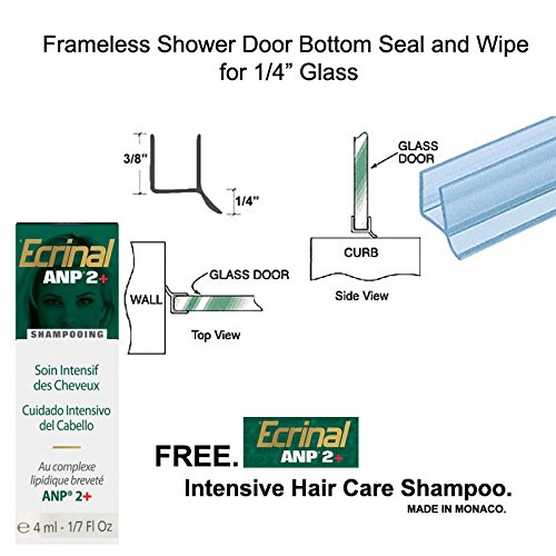 Clear Shower Door Dual Durometer PVC Seal and Wipe for 1/4