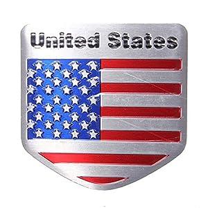Exterior Accessories - Flag Decal Emblems Decals Stickers Cars Sport Emblem American - a Flag Metal Auto Refitting Car Badge Emblem Decal Sticker - - 1PCs