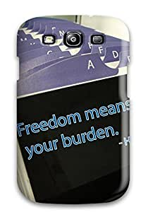 For Galaxy S3 Tpu Phone Case Cover(freedom Quotes )