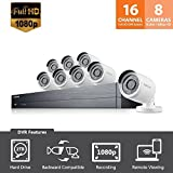 SDH-C75083 - Samsung Wisenet 16 Channel Full HD Video All-in-One Security System with 8 Bullet Cameras (Certified Refurbished)