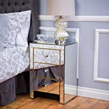 Christopher Knight Home 298213 Lenorr 3 Drawer Side Table, Mirror/Gold Review