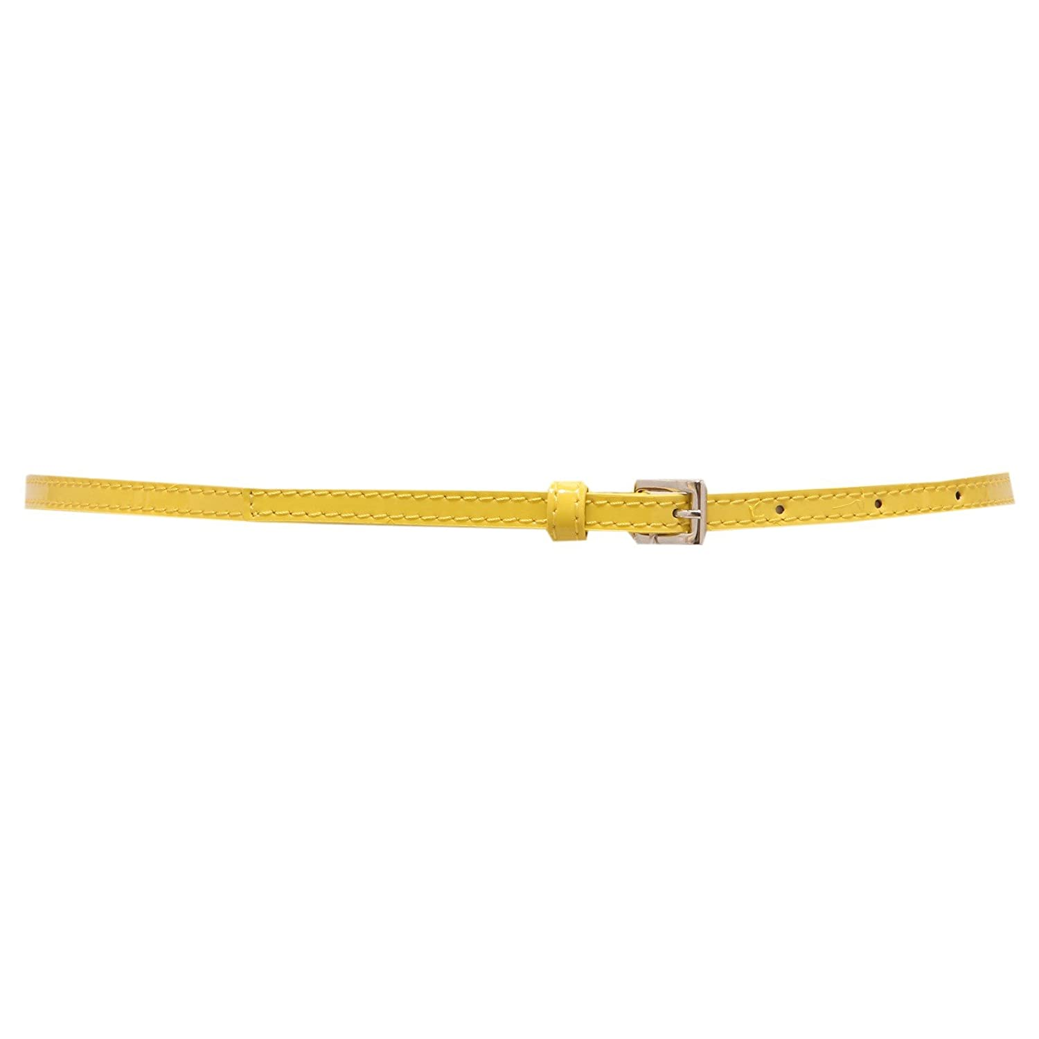 4301U cintura bimba SIMONETTA MINI pelle genuine leather yellow belt girl [6 YEARS]