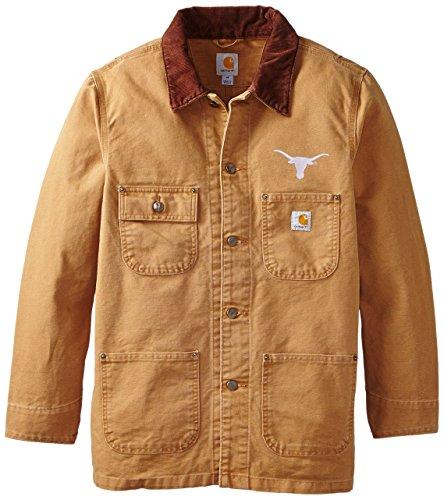 NCAA Texas Longhorns Men's Weathered Chore Coat, Large ()
